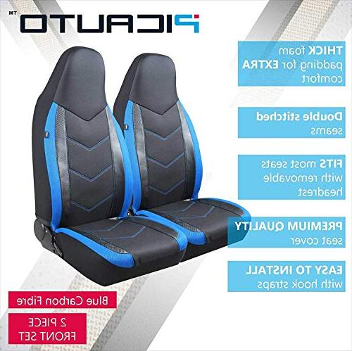 PIC High Back Car Seat Covers - Sports Design, Compatible