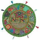 Indian Decor Floor Cushion Cover Round Fabric Floor Pouffe E