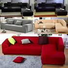 L-Shaped Sofa Couch Slipcover Cover+Pillowcase Stretch 5 Pur