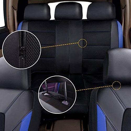 CAR PASS and Mesh Universal Fit Car Seat Trunkcs,Suvs,Airbag Zipper and Opening Holes Headrest