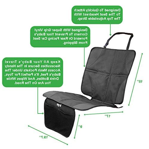 lebogner Car + Backseat with iPad and Tablet Durable Seat Covers, 5 Pocket Storage Seat Organizer & Kick Accessories