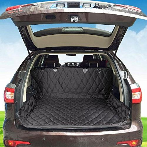 EUPETS Large Dog With Anchors Truck and SUV,Thick Durable, Non-Slip Backing Convertible, Pet Black