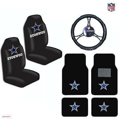 New NFL Dallas Cowboys Car Truck Seat Covers Floor Mats Stee
