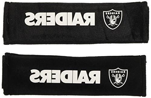 oakland raiders velour seat belt