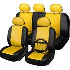 OxGord Faux-leather PVC 17-piece Universal-fit Seat Cover Se