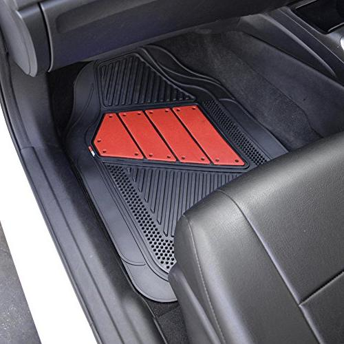 PolyCloth Sport Rubber Floor Mats Wheel Cover Auto Car Truck - Two To