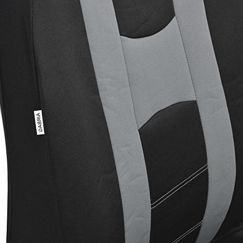 PolyCloth Sport Covers Rubber Steering Cover Auto Car - Two Tone &