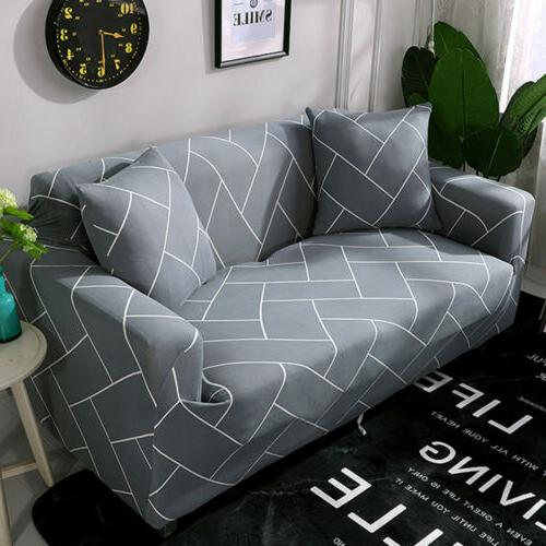 Printed Slipcover Sofa Covers Spandex Stretch Couch Furniture