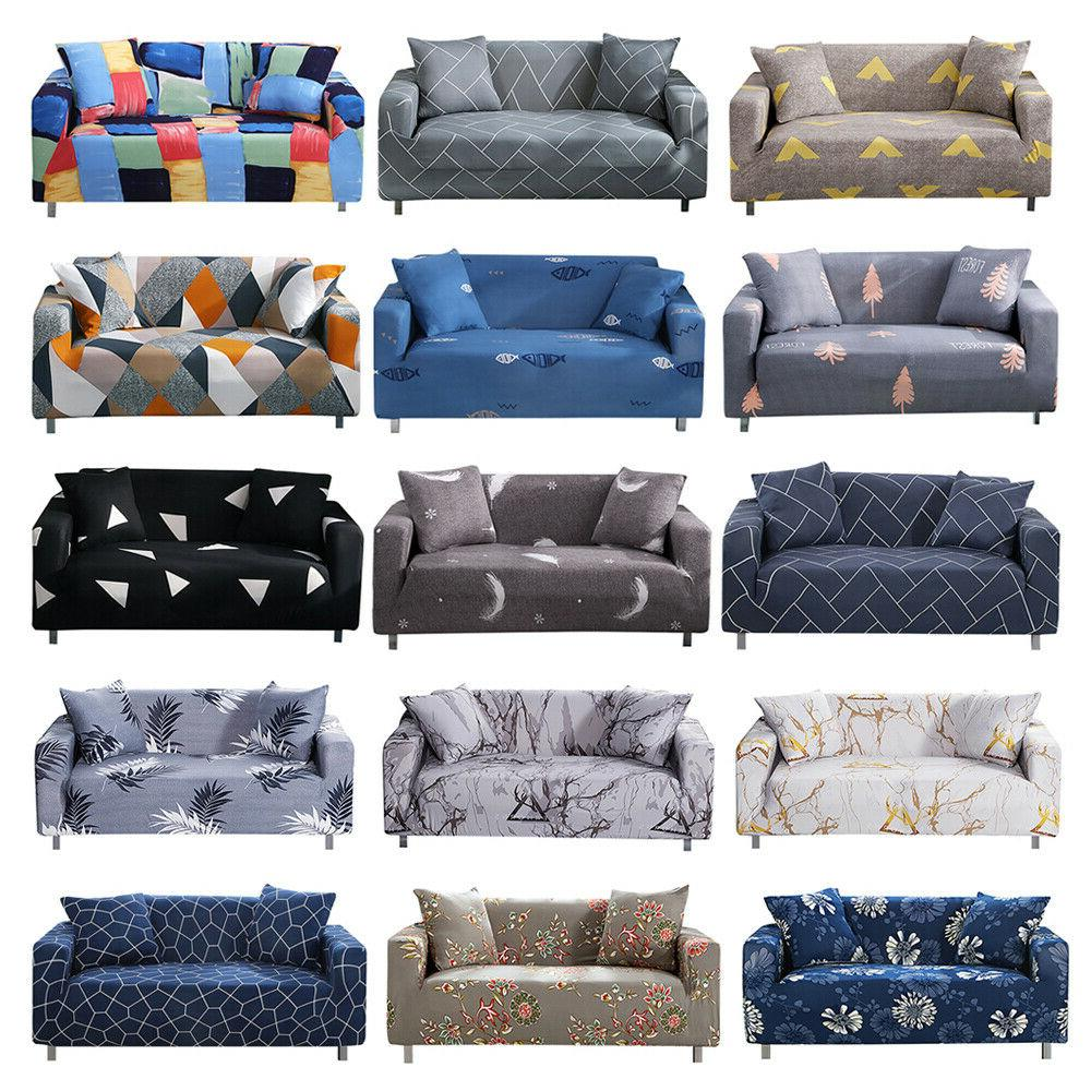 printed slipcover sofa covers spandex stretch couch