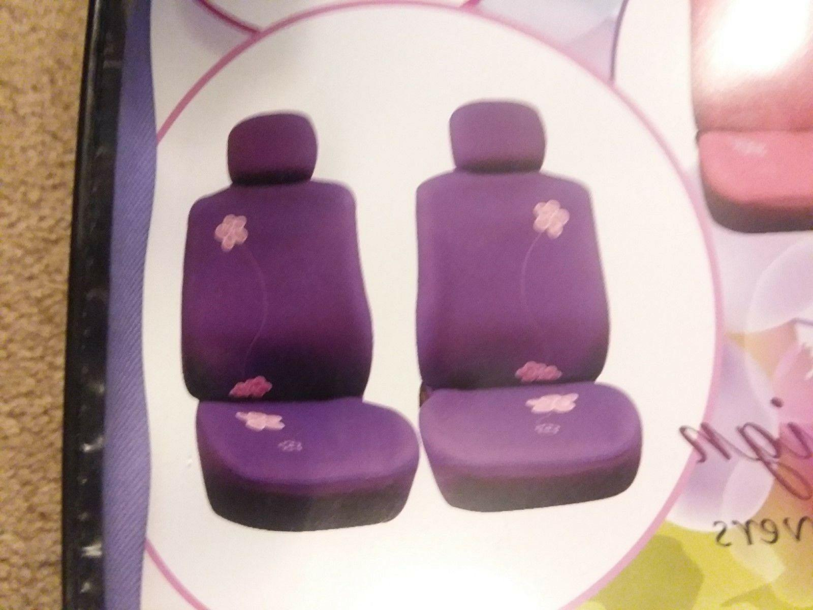 FH Group Purple Flower Embroidery Airbag