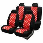 FH Group Red and Black Polka Dots Car Seat Covers