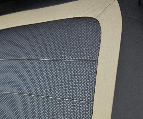 BDK S3BG Car for Airbag and Armrest, Front Rear Interior Seat Covers