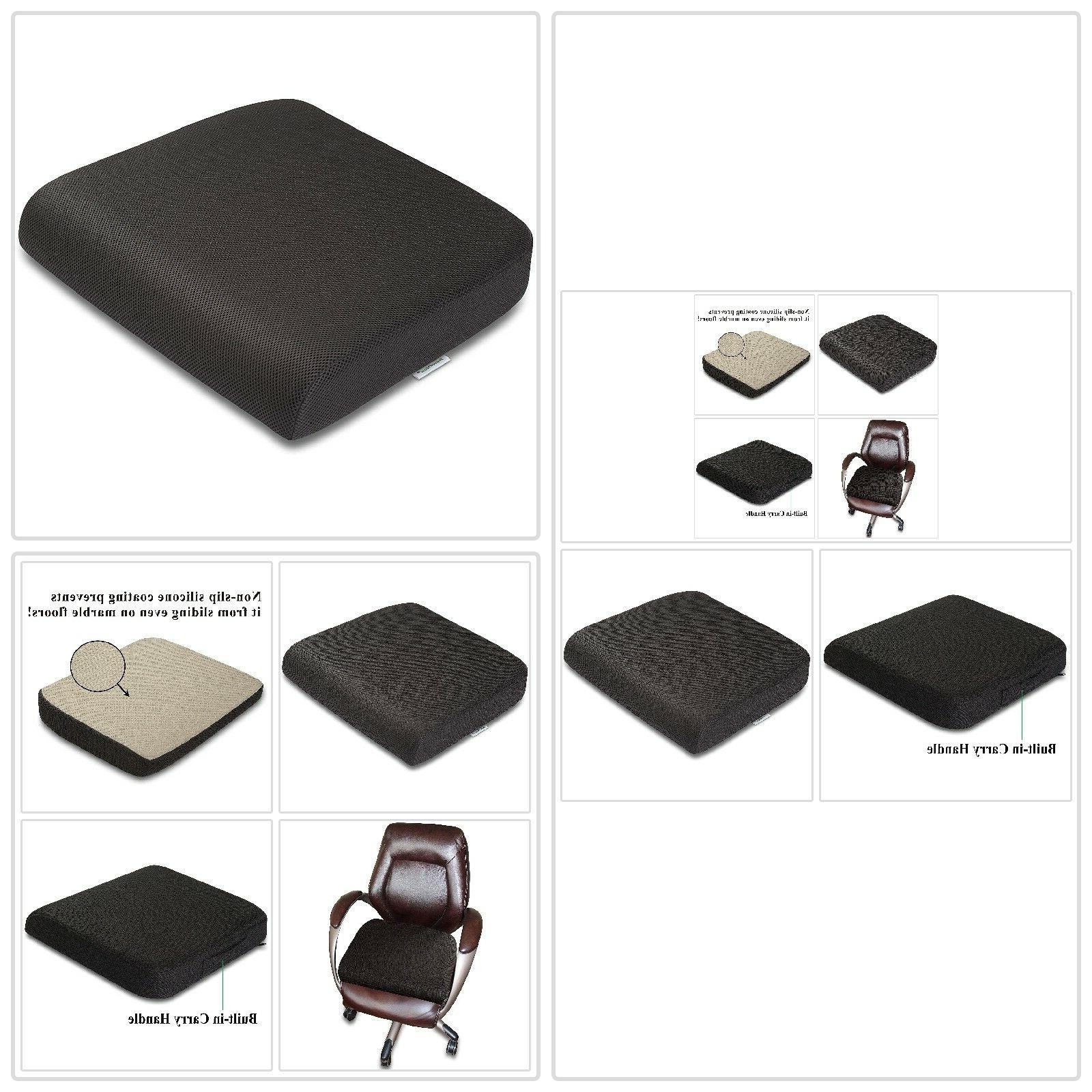 Seat Cushion Comfortable Slip Cover Breathable Memory Foam Ventilated