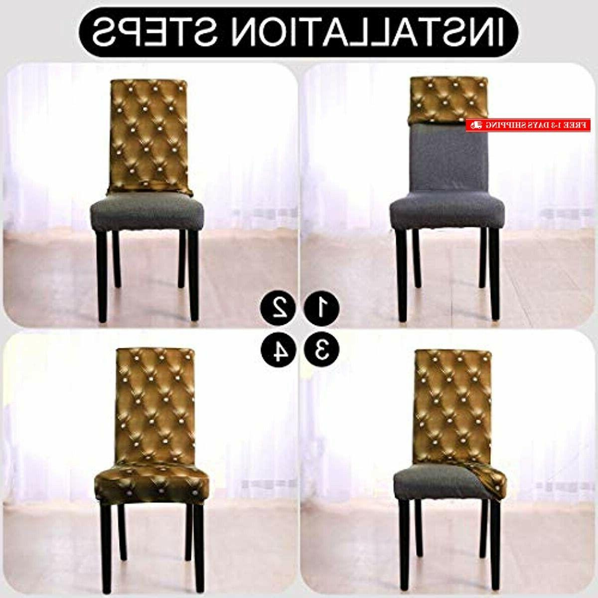 uxcell Dining Chair Cover Short Seat