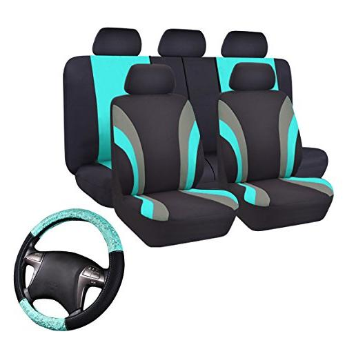 universal fit car seat cover with steering