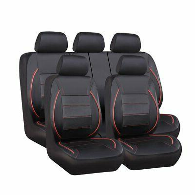 universal fit piping leather car seat cover