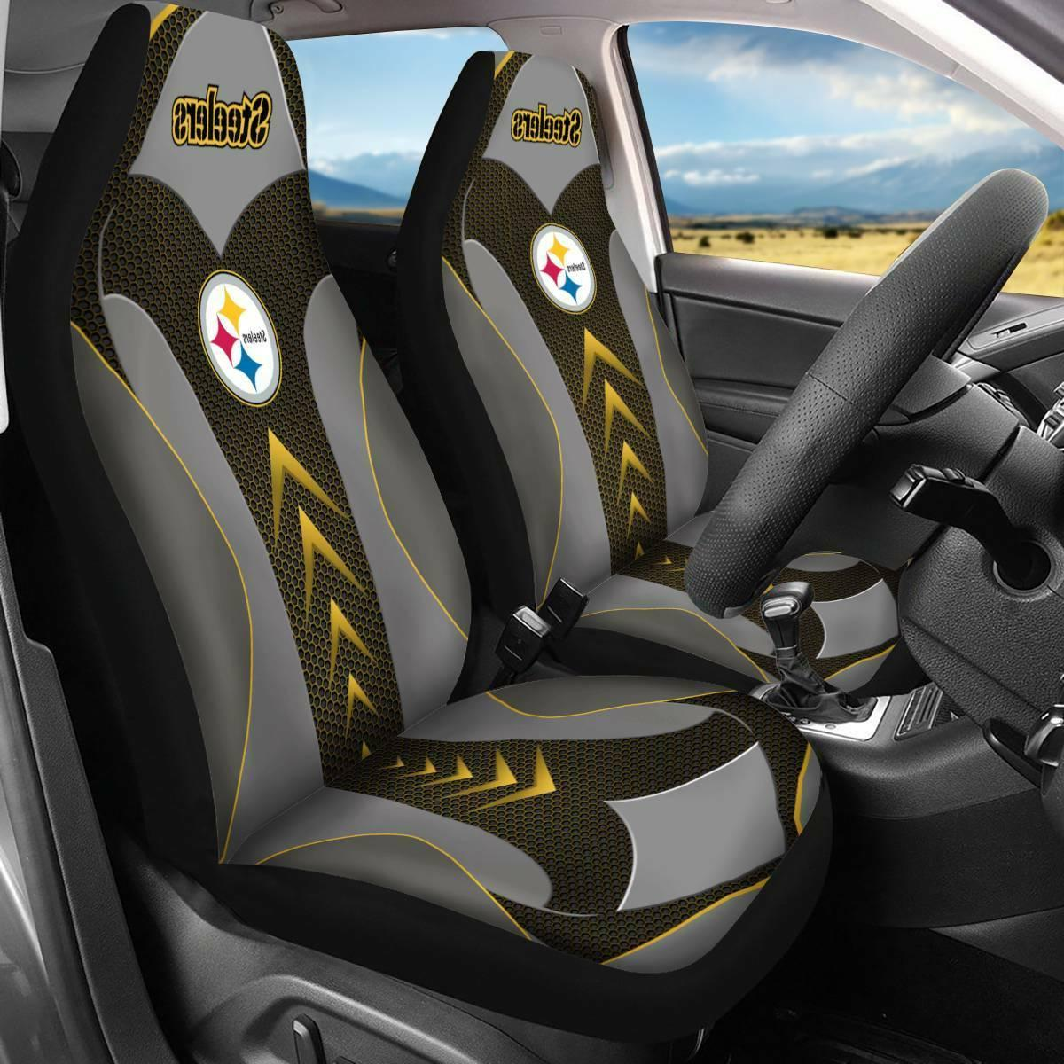US Pittsburgh Steelers Car Seat Covers Universal Fit Pickup
