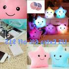US STO Cute Girl Luminous Pillow Toy LED Light Plush Star Ki