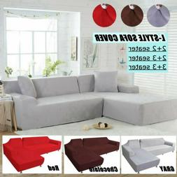 L-Shape 3 2 Seat Stretch Elastic Fabric Sofa Cover Sectional