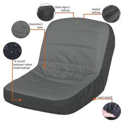 Lawn Tractor Seat Cover Large Cushioned Water Resistant w/El