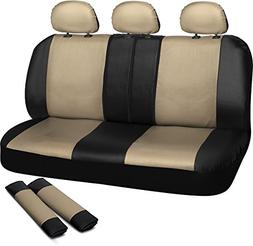 OxGord Leatherette Bench Seat Covers Universal Fit for Car,