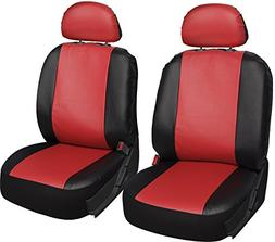 OxGord 6pc Leatherette Bucket Seat Cover Set, Universal Fit,
