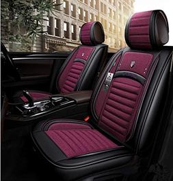 Luxurious Car Seat Cover,Airbag Compatible Universal Full Se