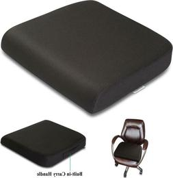 Memory Foam Seat Cushion Extra Large Office Chair Washable B
