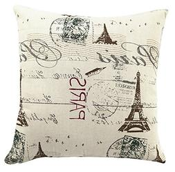 Multi-sized Eiffel Tower Printing Cushion Cover LivebyCare L