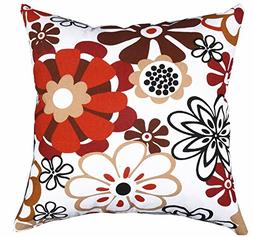 Multi-sized Both Sides Sketch Floral Printing Cushion Cover