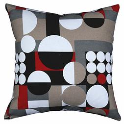 Multi-sized Both Sides Geometric Round Printing Cushion Cove