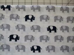 Navy and gray elephant print canopy infant car seat cover/Gr