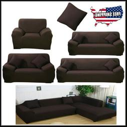 New 1 2 3 4 Seat L-Shape Spandex Stretch Sofa Covers Protect