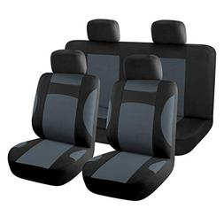 uxcell New Car Seat Covers Full Set for Auto w/ 4 Head Rests
