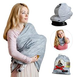 Nursing Breastfeeding Cover Scarf - Baby Car Seat Canopy, Sh
