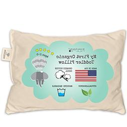 Toddler Pillow - ORGANIC Cotton MADE IN USA - Washable Unise