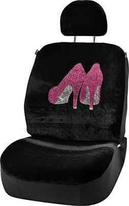 Bell Automotive Pink High Heels Universal Low Back Seat Cove