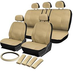 OxGord 17pc PU Seat Cover, Beige