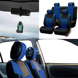 FH Group PU003114 Racing PU Leather Full Set Car Seat Covers