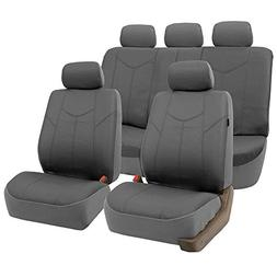 FH GROUP PU009115 Rome PU Leather Full Set Car Seat Covers,