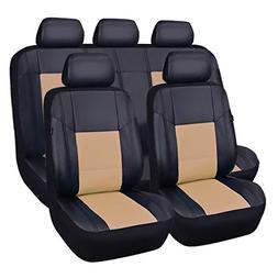 CAR PASS Skyline PU Leather CAR SEAT Covers - Universal FIT