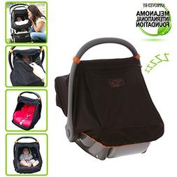 SnoozeShade Universal Car Seat Canopy | Blocks 99% of UV wit