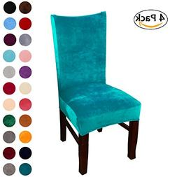 Colorxy Velvet Spandex Fabric Stretch Dining Room Chair Slip