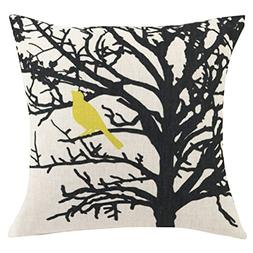 ChezMax Square Cartoon Animal Printed Cushion Cover Cotton T