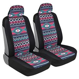 BDK Two Tone Pattern Car Seat Covers - Sideless Chic Style -