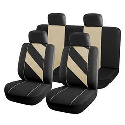 uxcell Unique Flat Cloth Auto Car Seat Cover Headrests Full