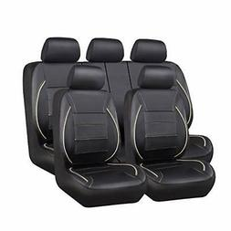 CAR PASS Universal FIT Piping Leather Car Seat Cover for suv