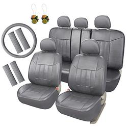 Leader Accessories Universal Front Rear Car Seat Covers Leat