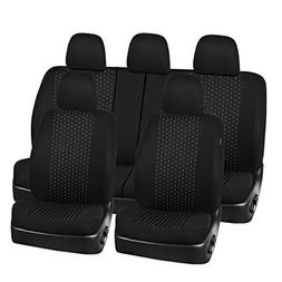 universal jacquard car seat covers set black
