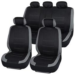 BDK Venice Series Car Seat Covers for Auto - Gray Stripes on